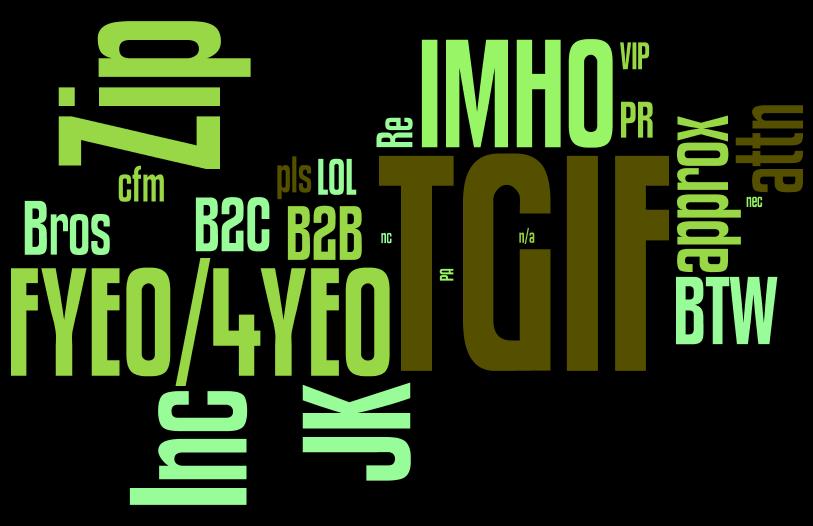 FYI or FYA? Buzzing with acronyms