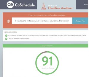 Write Better Headlines Free Headline Analyzer From CoSchedule