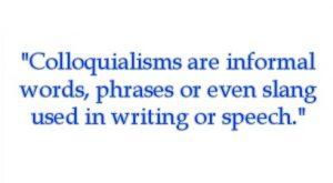 colloquialisms definition - online spellcheck