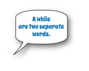A while are two separate words