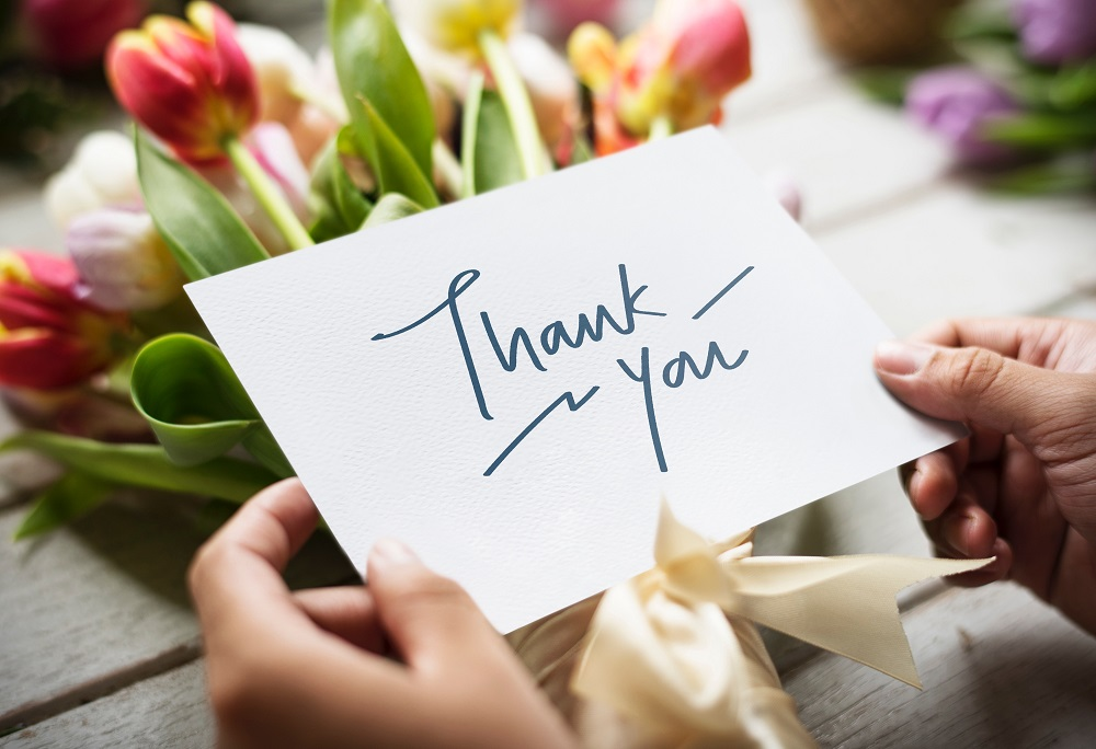 Showing your gratitude in writing is easy