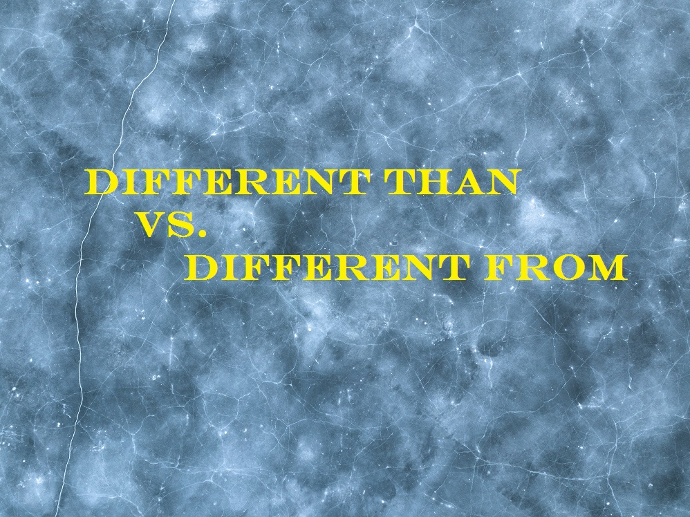 Different Than vs. Different From